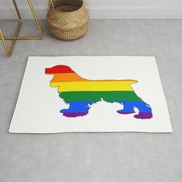 Rainbow Cocker Spaniel Rug