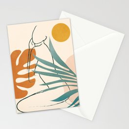 Minimal Line in Nature III Stationery Cards