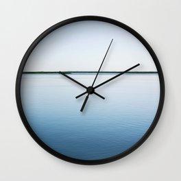 Cyan Waters in Georgia Wall Clock