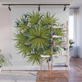"""El Bosco fantasy, tropical island blue butterflies 02"" Wall Mural"