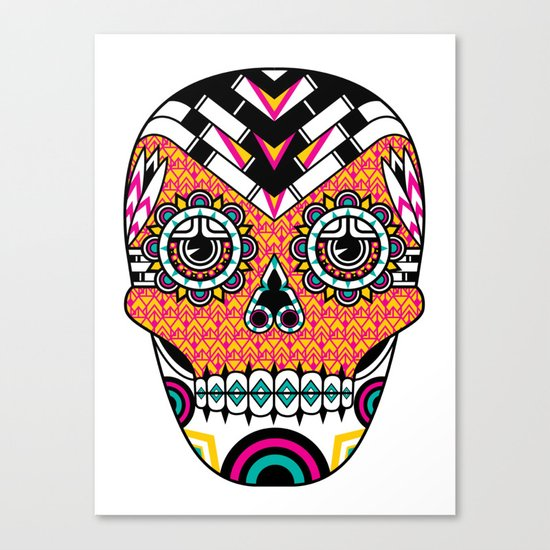 Deco Skull Canvas Print
