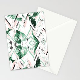 Tropical paint texture Stationery Cards