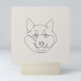 One Line Shiba Inu Mini Art Print