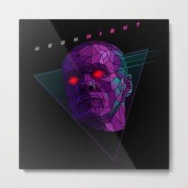 Neonnight 80s cyborg Metal Print