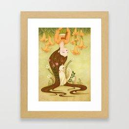 Flower shade Framed Art Print