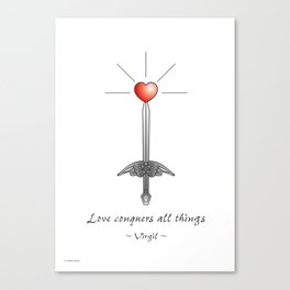 Love conquers all things Canvas Print