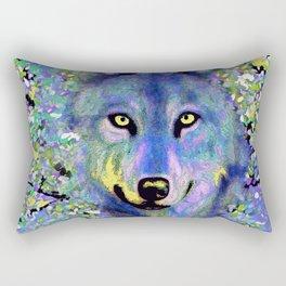 WOLF IN THE GARDEN Rectangular Pillow