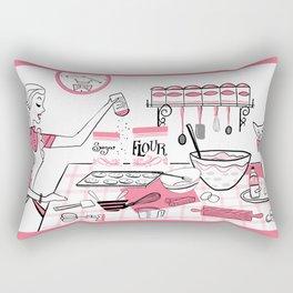 Baking Day Fun With Mister Kitty Rectangular Pillow