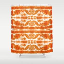 Orange Tie-Dye Twos Shower Curtain