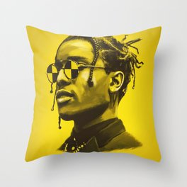 A$AP Rocky Throw Pillow