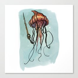 Jellyfish Wizard Canvas Print