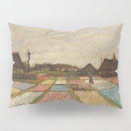 Classic Art - Flower Beds in Holland - Vincent van Gogh Pillow Sham