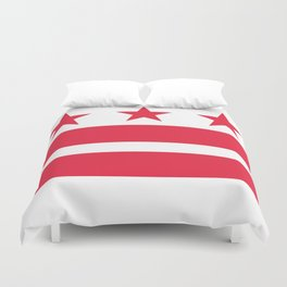 Flag of the District of Columbia - Washington D.C authentic version Duvet Cover