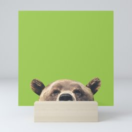 Bear - Green Mini Art Print