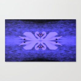Swans in Love (in a purple haze) Canvas Print