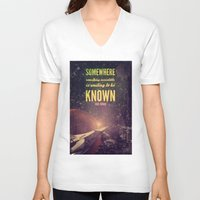 sagan V-neck T-shirts featuring Space Exploration (Carl Sagan Quote) by taudalpoiart