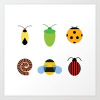 bugs Art Prints featuring Bugs by Stephen Cheetham