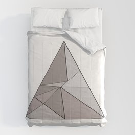 Graphic Geometric Shape Gray Comforters