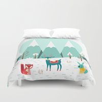 frozen Duvet Covers featuring Frozen by General Design Studio