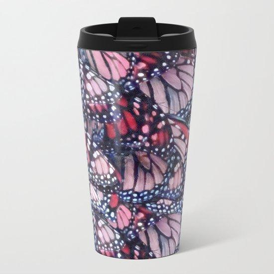 Monarch Butterflies Metal Travel Mug