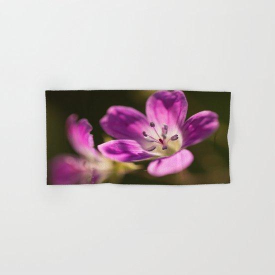 Purple glow in forest Hand & Bath Towel