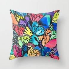 Butterfly Spark Throw Pillow