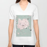 cosmos V-neck T-shirts featuring cosmos by Drawing Bird