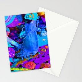 Mermaids purse purple/violet/blue Stationery Cards