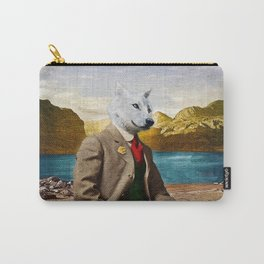 Mr. Wolf Relaxing at the Lake Carry-All Pouch