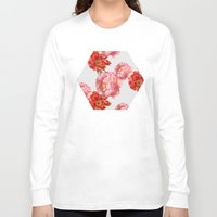 vintage floral Long Sleeve T-shirts featuring vintage floral by cardboardcities