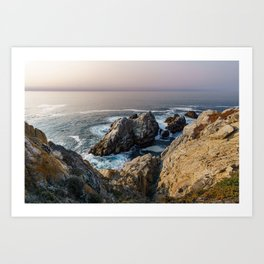 The Pacific Ocean at Sunset Art Print