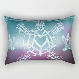 Tribal Sea Turtle Rectangular Pillow