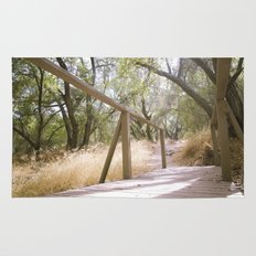 Small Bridge In The Woods Rug