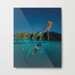 Life is a message in a bottle Metal Print
