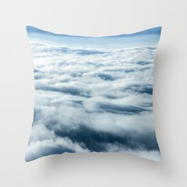 Above the Clouds - Nature Photography Throw Pillow
