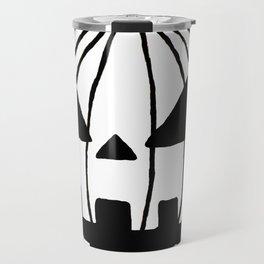 White Pumpkin Jack O Lantern  Travel Mug