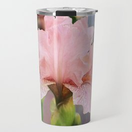 Lovely Pink Iris Travel Mug