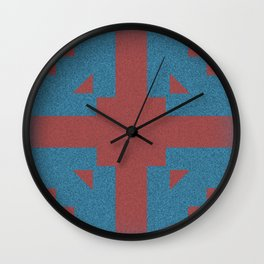 Blue & Red Noises Wall Clock