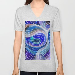 Everything Is Created Imperfect Blue Coral Unisex V-Neck