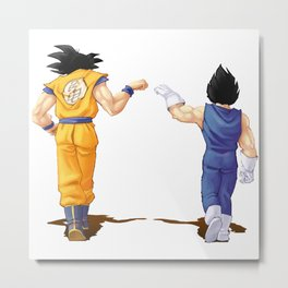 Fan Art Goku and Vegeta friends Metal Print