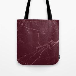 modern burgundy marble look Tote Bag