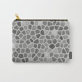 Faux Mosaic in light grays Carry-All Pouch