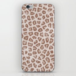 Abstract hipster brown white cheetah animal print iPhone Skin