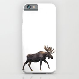 Polygon geometric Moose iPhone Case