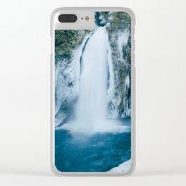 Winter Wahclella Falls Clear iPhone Case