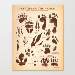 Cryptids of the World Canvas Print