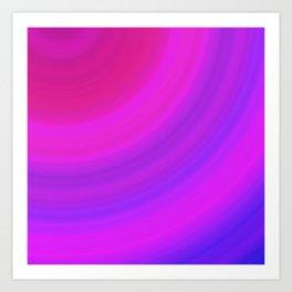 Neon Pink Blue Circles Art Print