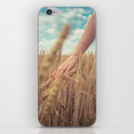 Summer fields iPhone Skin