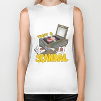 scandal Biker Tanks featuring Scandal by MinaLotToMe