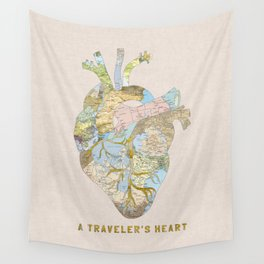 A Traveler's Heart Wall Tapestry
